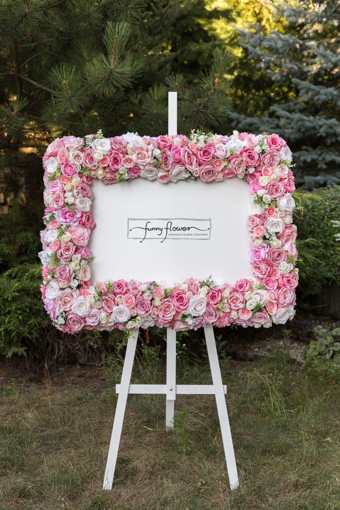Rama kwiatowa Pink Funny Flower